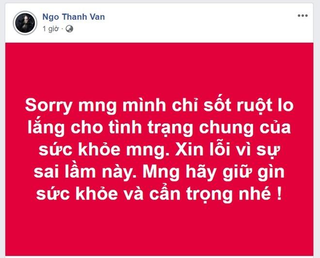 Ngô Thanh Vân bị xử phạt hành chính vì đăng tải thông tin sai về dịch bệnh Corona