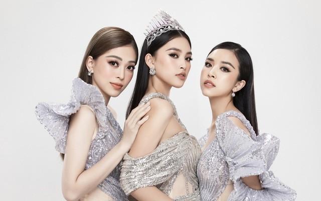 """Top 3 """"Hoa hậu Việt Nam 2018"""": Hoa hậu Tiểu Vy (giữa), Á hậu 1 Phương Nga (trái) và Á hậu 2 Thúy An (phải)"""
