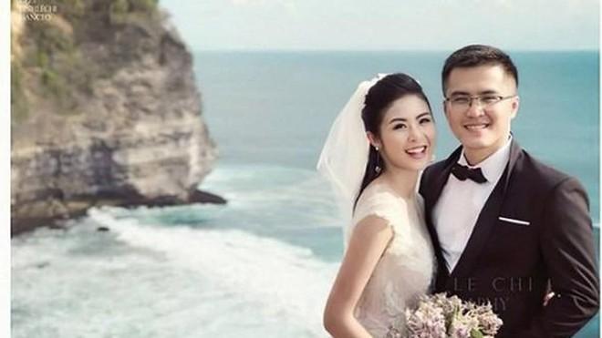 Ngọc Hân và vị hôn phu trong bức ảnh cưới lãng mạn