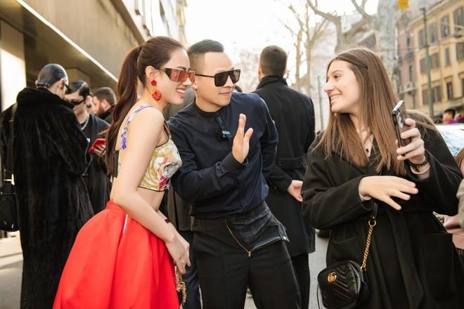 Vũ Khắc Tiệp tại sự kiện Tuần lễ thời trang Milan diễn ra tại Ý cuối tháng 2 vừa qua