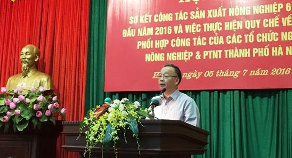Phó Chủ tịch UBND TP Nguyễn Văn Sửu phát biểu tại cuộc họp ngày 5-7-2016