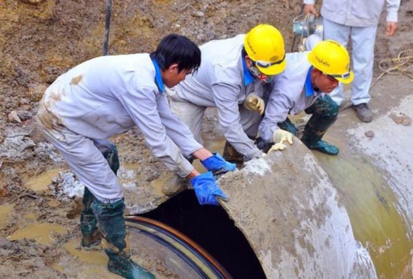 Đường ống sông Đà tuyến số 1 liên tục gặp sự cố