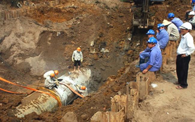 Sự cố rò rỉ ống nước sông Đà đã được khắc phục trong đêm