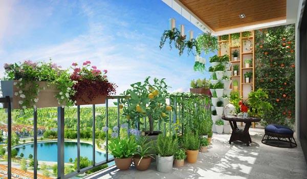 Màu xanh là thiết kế chủ đạo trong các căn hộ dự án Anland