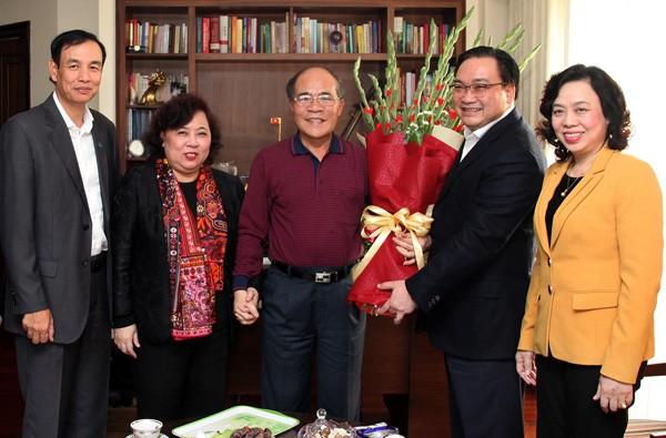 Lãnh đạo thành phố Hà Nội chúc Tết các đồng chí nguyên lãnh đạo Đảng, Nhà nước ảnh 5