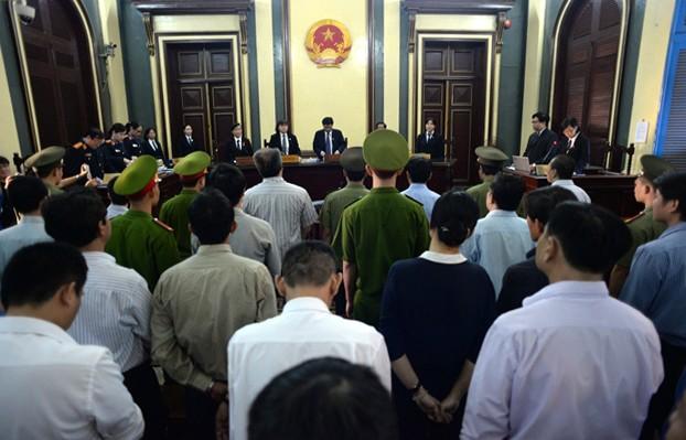 Quang cảnh phiên toà xét xử đại án VNCB