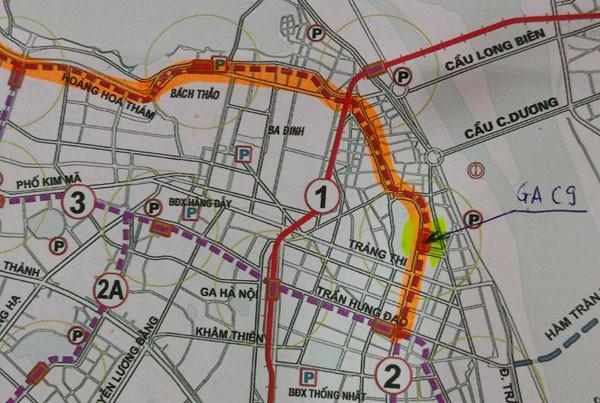 Ga tàu điện ngầm C9 nằm ở khu vực hồ Hoàn Kiếm được dư luận đặc biệt quan tâm