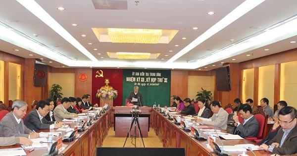 Toàn cảnh kỳ họp thứ 11 của Ủy ban Kiểm tra Trung ương (ảnh ubkttw.vn)