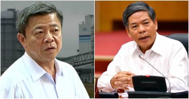 Ông Võ Kim Cự (trái) và nguyên Bộ trưởng Bộ TN-MT Nguyễn Minh Quang đều có khuyết điểm,