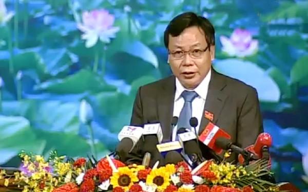 Trưởng Ban Tuyên giáo Thành ủy Hà Nội Nguyễn Văn Phong thông tin tới báo chí về định hướng, giải pháp của Hà Nội trong giải quyết vụ việc ở Đồng Tâm