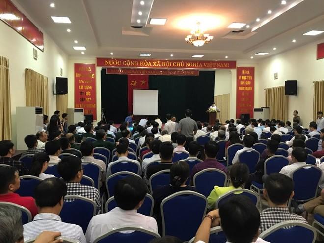 Hôm 7-7, dự thảo kết luận thanh tra đất đai Đồng Tâm đã được công bố tại trụ sở UBND huyện Mỹ Đức