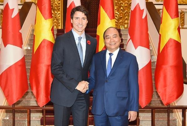 Thủ tướng Nguyễn Xuân Phúc và Thủ tướng Canada Justin Trudeau