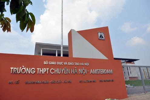 Trường Trung học phổ thông chuyên Hà Nội - Amsterdam được giao tài sản quản lý theo cơ chế giao vốn cho doanh nghiệp