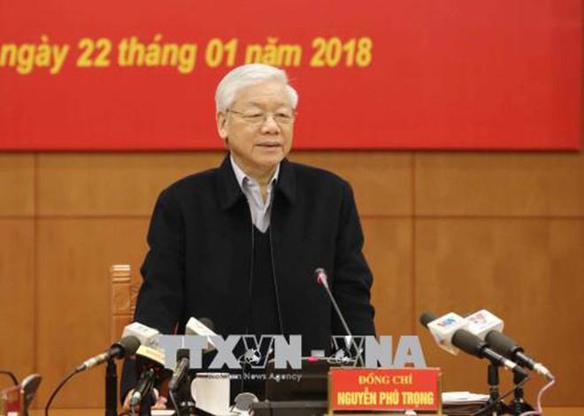 Tổng Bí thư Nguyễn Phú Trọng, Trưởng Ban chỉ đạo Trung ương về phòng, chống tham nhũng chủ trì phiên họp