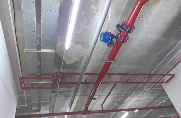 Hệ thống phòng cháy chữa cháy ở các tầng hầm đã cơ bản hoàn thành