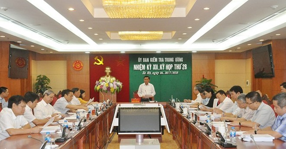 Đồng chí Trần Cẩm Tú, Bí thư Trung ương Đảng, Chủ nhiệm Ủy ban Kiểm tra Trung ương chủ trì kỳ họp