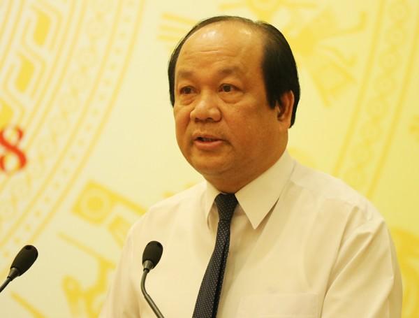 Bộ trưởng, Chủ nhiệm VPCP Mai Tiến Dũng chủ trì họp báo