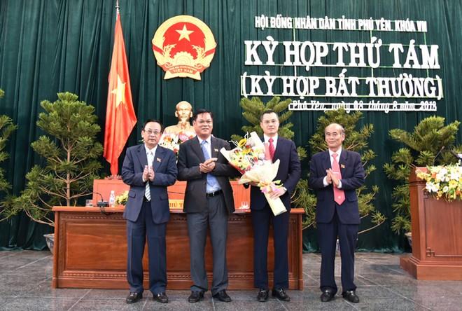 Lãnh đạo tỉnh Phú Yên chúc mừng ông Phạm Đại Dương được bầu giữ chức Chủ tịch UBND tỉnh nhiệm kỳ 2016-2021