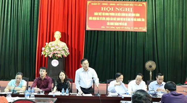 Bí thư Quận ủy Bắc Từ Liêm Trương Quang Thiều phát biểu chỉ đạo