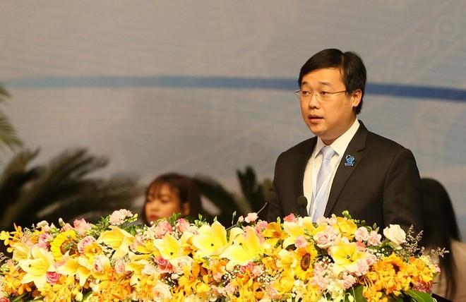 Anh Lê Quốc Phong, Bí thư thứ nhất T.Ư Đoàn, Chủ tịch Hội Liên hiệp Thanh niên Việt Nam, Chủ tịch Hội Sinh viên Việt Nam khóa IX, phát biểu khai mạc Đại hội