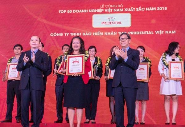 Prudential Việt Nam vào Top 50 doanh nghiệp Việt Nam xuất sắc năm 2018