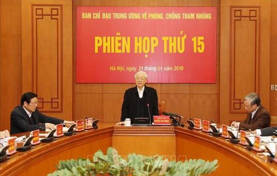 Tổng Bí thư, Chủ tịch nước Nguyễn Phú Trọng, Trưởng ban Chỉ đạo phát biểu tại phiên họp