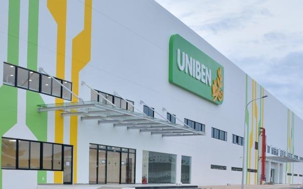 Nhà máy mới của UNIBEN tại KCN Vietnam – Singapore 2, tỉnh Bình Dương.