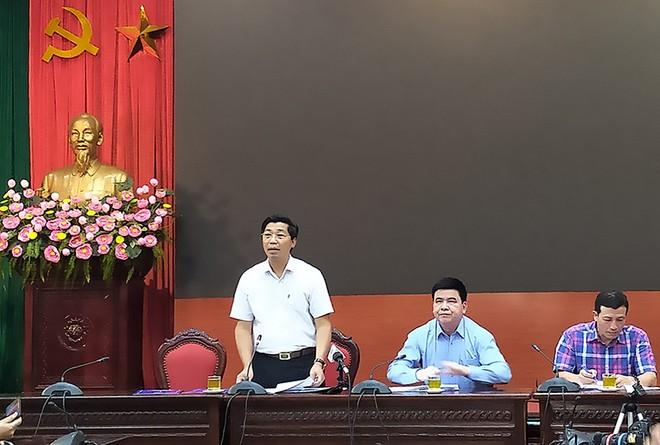 Chủ tịch UBND huyện Thường Tín Kiều Xuân Huy thông tin tại hội nghị