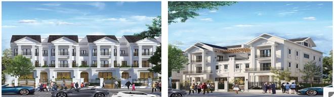 Hình ảnh biệt thự liền kề, biệt thự song lập trên các dãy phố thương mại của dự án The Lotus Center