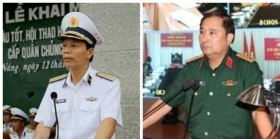 Hai tân Phó Tổng Tham mưu trưởng Quân đội nhân dân Việt Nam Nguyễn Trọng Bình và Phùng Sĩ Tấn
