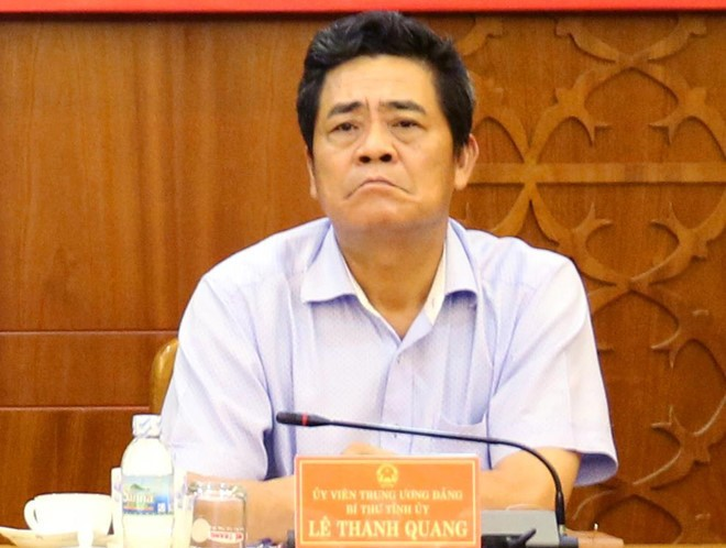 Đồng chí Lê Thanh Quang, Ủy viên Trung ương Đảng, Bí thư Tỉnh ủy Khánh Hòa