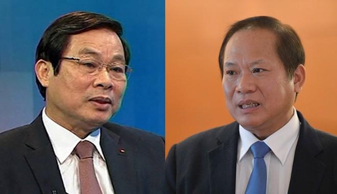 Các ông Nguyễn Bắc Son và Trương Minh Tuấn bị khai trừ ra khỏi Đảng
