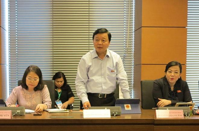 Bộ trưởng Bộ Tài nguyên và môi trường Trần Hồng Hà phát biểu