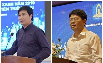Thứ trưởng Bộ Xây dựng Nguyễn Tường Văn (ảnh trái) và Thứ trưởng Bộ Tư pháp Nguyễn Thanh Tịnh