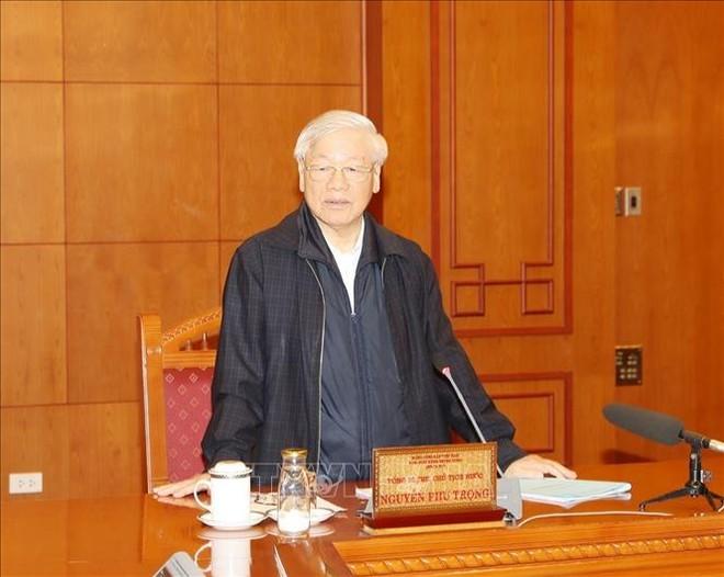 Tổng Bí thư, Chủ tịch nước Nguyễn Phú Trọng phát biểu tại cuộc họp