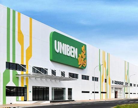 Với diện tích 160.000 m2, nhà máy Uniben tại KCN VSIP IIA, Bình Dương là một trong những nhà máy thực phẩm lớn và hiện đại bậc nhất khu vực.
