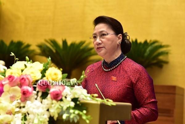 Chủ tịch Quốc hội Nguyễn Thị Kim Ngân phát biểu khai mạc kỳ họp thứ 9