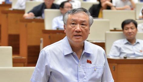 Chánh án Toà án nhân dân tối cao Nguyễn Hoà Bình nói trước Quốc hội, sáng 15-6