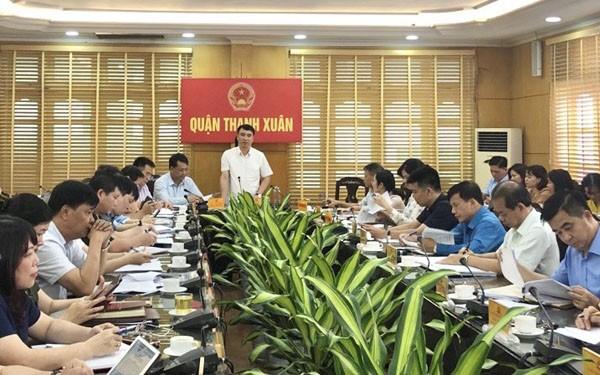 Hội nghị Ban Chấp hành Đảng bộ quận Thanh Xuân khóa V, nhiệm kỳ 2015 - 2020 chốt lại các nội dung chuẩn bị cho đại hội Đảng bộ quận khóa VI