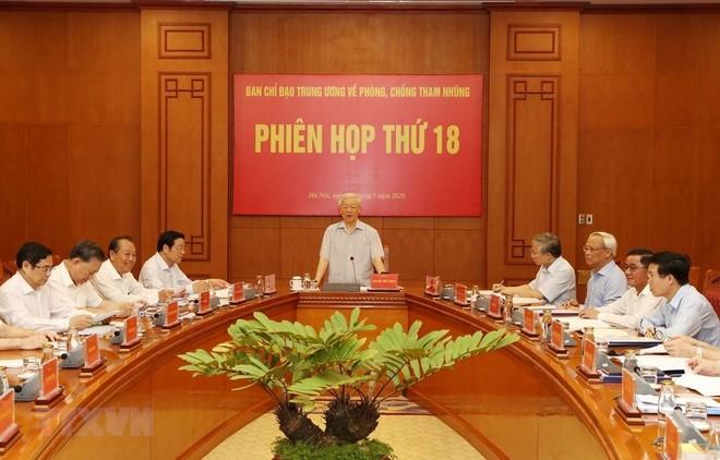 Tổng Bí thư, Chủ tịch nước Nguyễn Phú Trọng phát biểu chỉ đạo phiên họp (Ảnh: Trí Dũng/TTXVN)