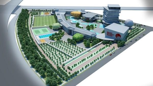 Mô hình diện tích trường BUV tại Ecopark