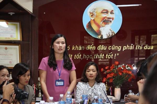Hiệu trưởng Phan Kim Anh nhìn nhận đây là bài học đối với các thầy cô giáo và nhà trường