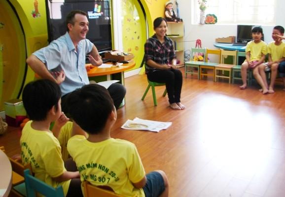 Hà Nội đang tích cực triển khai tiếng Anh trong bậc học mầm non
