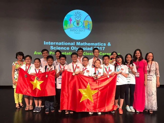 Đoàn Việt Nam xuất sắc dành 12 huy chương tại IMSO 2017