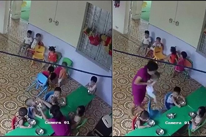 Nữ giáo viên cơ sở mầm non Ngôi nhà tuổi thơ có hành vi thô bạo khi cháu bé nôn ói, không chịu ăn