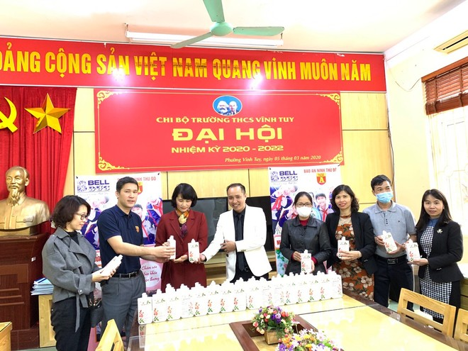 Nhà tài trợ nước rửa tay Bell Đức chung tay bảo vệ sức khoẻ học đường