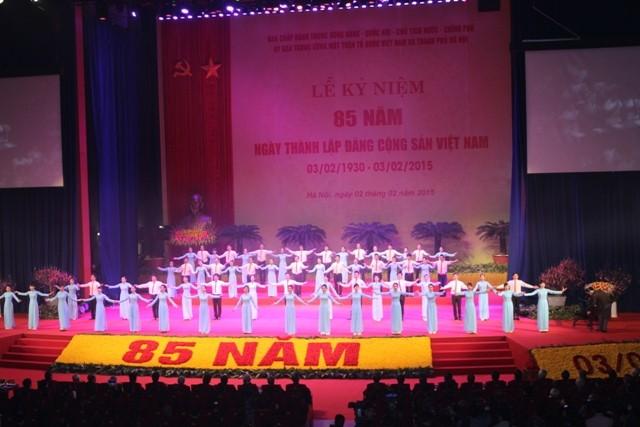 Lễ kỷ niệm 85 năm Ngày thành lập Đảng Cộng sản Việt Nam được tổ chức trọng thể