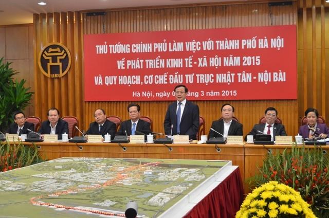 Bí thư Thành ủy Hà Nội Phạm Quang Nghị cam kết chính quyền và nhân dân Hà Nội sẽ xây dựng Thủ đô xứng đáng với mong đợi của cả nước
