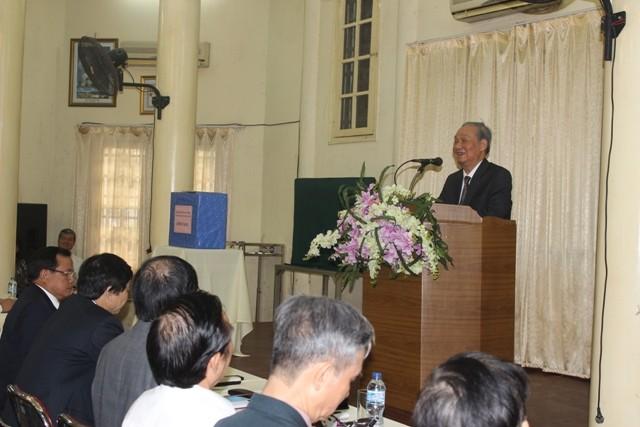 Ông Vũ Oanh, Chủ nhiệm Câu lạc bộ Thăng Long chúc Hà Nội tiếp tục đạt nhiều thắng lợi