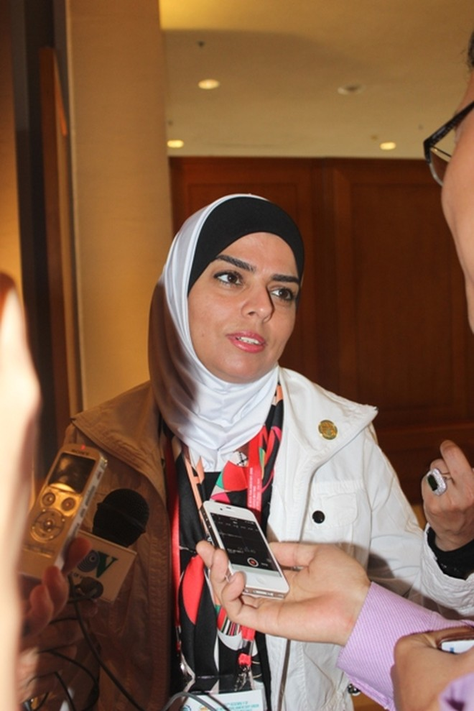 Nữ nghị sĩ Jordans dự hội nghị nữ nghị sĩ trong khuôn khổ IPU132 tại Hà Nội